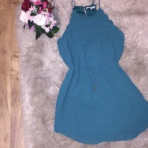 Scalloped edge dress